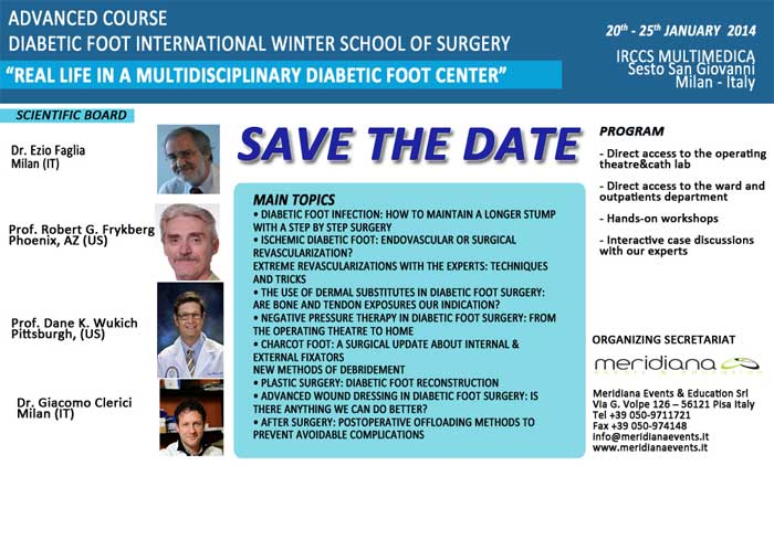 Diabetic Foot International Summer School of Surgery - Sesto San Giovanni, Milan, Italy - 1st/5th july 2013